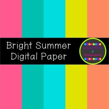 Bright Summer Digital Paper