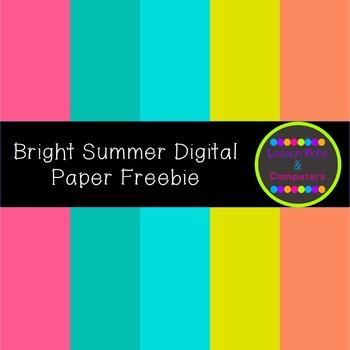 Bright Summer Digital Paper Sampler