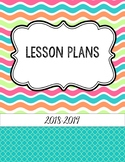 Bright Summer Waves Editable Teacher Binder / Lesson Plann