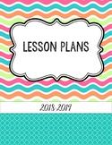 Bright Summer Waves Editable Teacher Binder / Lesson Planner