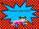 Superhero Bright Job Chart Editable