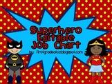 Superhero Bright Job Chart Editable
