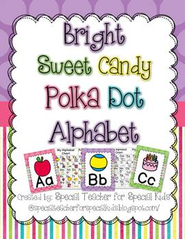 Bright Sweet Polka Dot Alphabet Posters