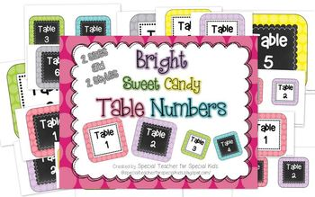 Bright Sweet Polka Dots -Table Numbers