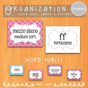 Bright Swirls Dynamics Posters {Posters & Word Wall Cards}