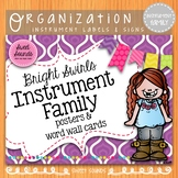 Instrument Family Posters - Music Word Wall - Bright Swirls