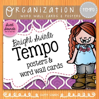 Bright Swirls Tempo {Posters and Word Wall Cards}