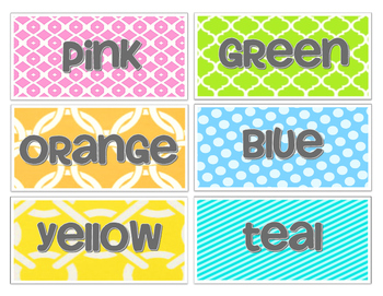 Bright Group Table Colors
