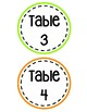 Bright Table Numbers