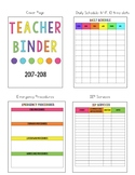 Bright Teacher Binder