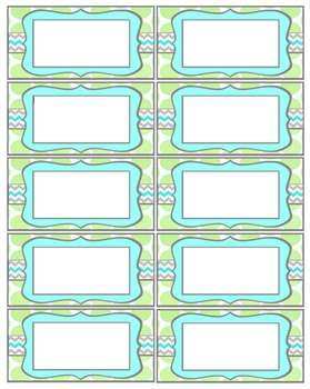 Bright Teacher Contact Cards - Editable