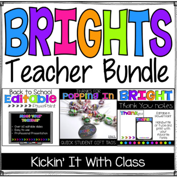 Open House Teacher Pack {PowerPoint, Thank You Notes and Popping In Tags}