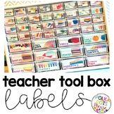 Bright Teacher Tool Box Labels with Photographs
