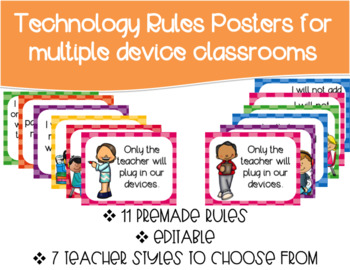 Bright Technology Rules Posters