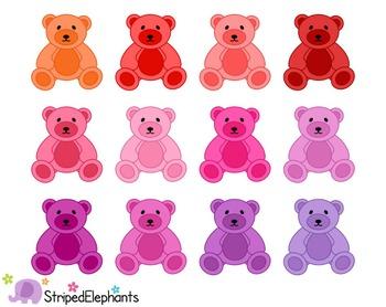 Teddy Bear Clip Art - Bright