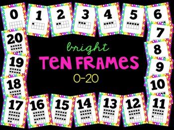Bright Ten Frames 0-20