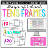 Bright Ten Frames For Counting School Days