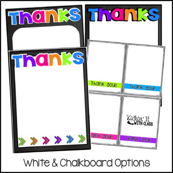 Bright Thank You Notes {Editable}