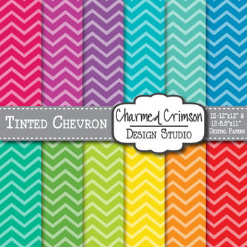 Bright Tinted Chevron Digital Paper 1191