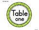 Bright Tonal Chevron Table Signs (1-10)