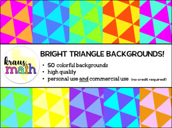 Bright Triangle Backgrounds/Digital Paper Pack! (Personal & Commercial Use)