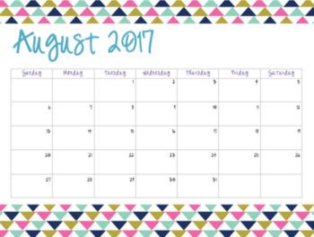 Bright Triangle Calendars (2017-2018)