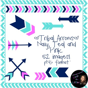 Bright Tribal Arrows Clip Art!- 52 images- Commercial or Personal Use