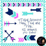 Bright Tribal Arrows Clip Art!- 52 images- Commercial or P