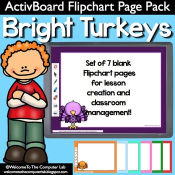 Bright Turkeys ActivBoard Flipchart Page Pack