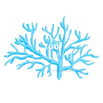 Bright Turquoise Coral, style 1 - turquoise coral clip art Tracey Gurley Designs