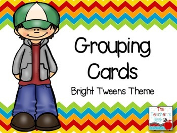 Bright Tweens Grouping Cards