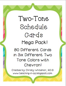 Bright Two-Tone Chevron Schedule Cards- Mega Pack- All Six Colors