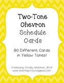 Bright Two-Tone Yellow Chevron Schedule Cards