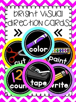 Bright Visual Direction Cards