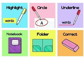 Bright Visual Instruction Cards - Growing Pack!