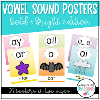 Bright Vowel Sound Posters