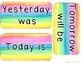 Bright Watercolor Calendar