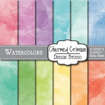 Bright Watercolor Digital Paper 1182