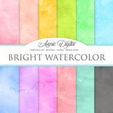 Bright Watercolor Digital Paper bright watercolour colors scrapbook background