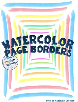 Bright Watercolor Page Borders