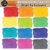 Bright Watercolor Rectangles Clip Art