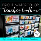 Bright Watercolor Teacher Toolbox