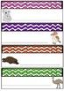 Bright Wave Australian Animals Desk Tags Locker Labels  Australia Theme