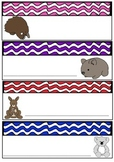 Bright Wave Australian Animals Desk Tags Locker Labels  Australia Theme