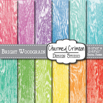 Bright Woodgrain Digital Paper 1137