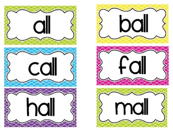 Bright Word Family Cards