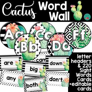 Cactus Word Wall