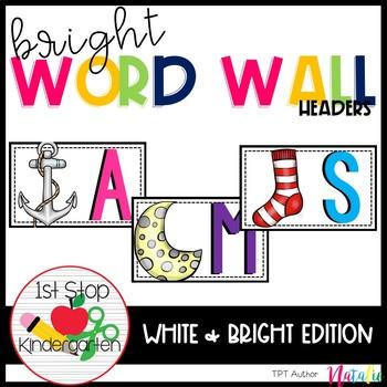 Bright Word Wall Headers