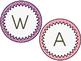 Bright Word Wall Headers {Polka Dot Circles}