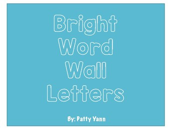Bright Word Wall Letters